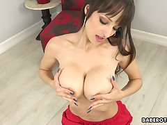 Unescorted goddess, Lexi Luna is sucking a dildo, in