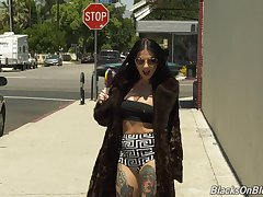 Joanna Angel gets her pussy pounded by her black  swain