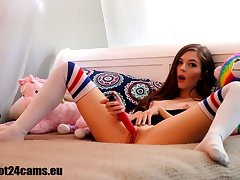Naughty schoolgirl in front of the webcam hot24cams eu