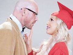 Stunning graduate gets intensity-plumbed by her teacher