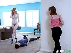 Sexy MILF Lauren Phillips turns her stepdaughter's BF into her oral slave