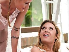 Beloved and sensual lesbian tot Tiffany Tatum loves sapphic threesomes