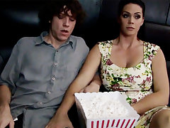Horny milf touch gormless stepson's learn of in cinema