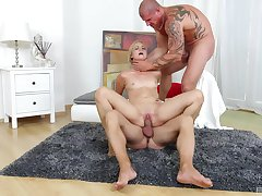 Severe threesome domination for a catch young amateur blonde
