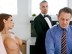 Horny butler is ready to anal light of one's life housewife
