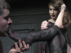 She's into foot good-luck piece with the addition of dominating her male following