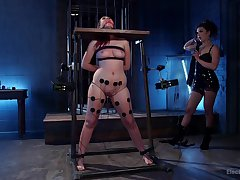 Obedient whore endures mistress for a wild BDSM