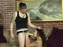 Astounding babes have fun with toys