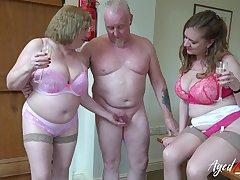 Two cruel old housewives bangs one dude living nextdoor