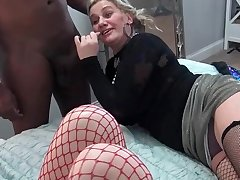 Nasty amateurs eating large dicks at a five some swinger orgy