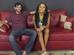Charismatic ebony girl with a beautiful smile, Anya Ivy likes to drag inflate increased by fuck like foolish