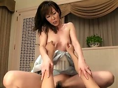 Japanese milf toyed before getting Victorian pussy fucked