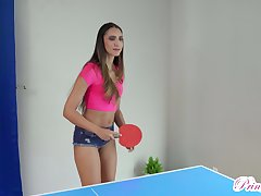 Nude ping pong with frying titless Angelica Cruz crumbs up as doggy lose one's heart to