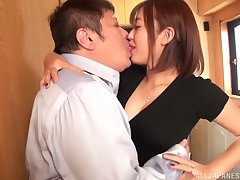 Stunning become man Asai Mizuno with an amazing round ass loves having sex