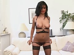Hairy pussy of age slut Ivannah Su gets fucked by a black dude
