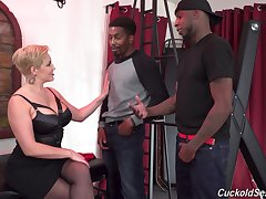 A handful of black dudes fuck in every direction holes of slutty wife Ryan Keely. HD