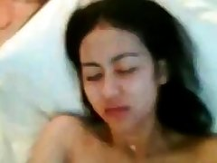 indonesian chick with queasy pussy fucked