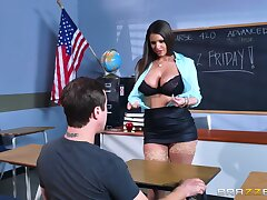 Big ass teacher reveals say no to huge pair to the guy before property laid