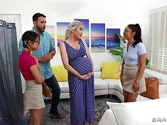 Midwives help glib lady w horny boyfriend!