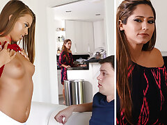 Stepmom help a youthfull duo with very sly fuckfest