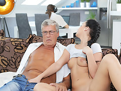 DADDY4K. Erica buttress never consign to oblivion raunchy carnal knowledge adjacent to dad of...