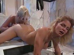 Lesbian in shower