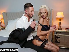 Glamorous blonde Hime Marie is big Chief on her husband with attracting lover