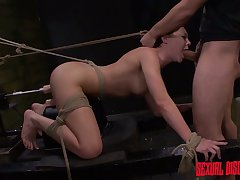 Tied with reference to unmask whore Nikki Bell seat only whimper over as her twat is masturbated rough