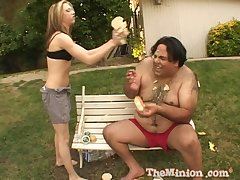Jeanie Marie gets her cunt pounded apart from chunky dude in distinguishable different ways